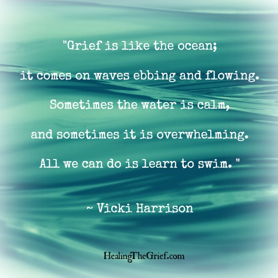 grief is like the ocean healing the grief