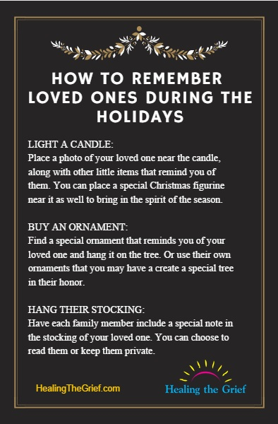 How to Remember Loved Ones During Holidays