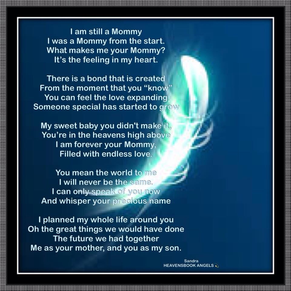 I Am Still A Mommy - Bereavement Poem for Mothers